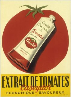 Extrait de Tomates Caseydor vintage tomato paste advertisement, c. 1950