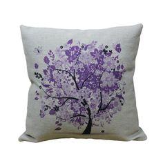 "Throw Pillow Beautiful Purple Tree Burlap Cushions 18"" Decorative Pillow id-pillow http://www.amazon.com/dp/B00KCS859S/ref=cm_sw_r_pi_dp_aqqcub1B5Y9WH"
