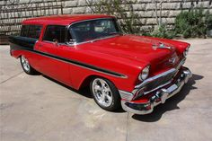 1956 CHEVROLET NOMAD CUSTOM WAGON  mmmmmmmm would love a  ride in this baby ! !