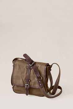 contemplating a new bag and this might do. Women s Canvas Long-Strap  Messenger Bag from Lands  End Canvas a5597f6ff726e