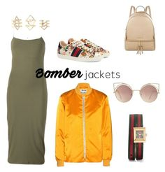 """""""Untitled #12"""" by jay-jay-fulton on Polyvore featuring Acne Studios, T By Alexander Wang, Gucci, MICHAEL Michael Kors, MANGO, Charlotte Russe and bomberjackets"""