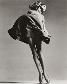 Veruschka, Dress by Bill Blass, New York studio, January 1967 by Richard Avedon