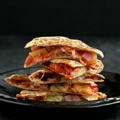 Hawaiian Pizza Quesadillas: An easy dinner with the flavors of a popular pizza.
