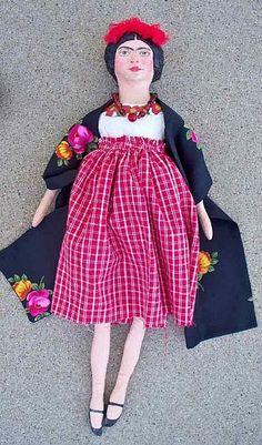Frida, a Folk Art Doll