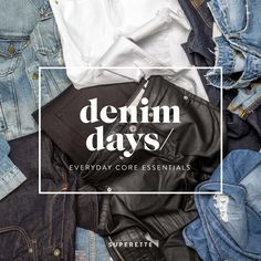 Denim Days / Superette  At Superette, we're suckers for all things denim.  Dress it up, dress it down, double it up or distress it — the possibilities are endless. We've got your core denim essentials covered by curating our favourite looks centered around those hero pieces ... denim days are here. — SHOP — Ponsonby / Newmarket / Wellington / www.superette.co.nz