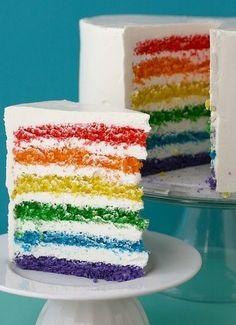 무지개 케이크 - Google 검색