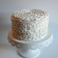 Ruffle Fake Cake Photo Prop Mother of by FakeCupcakeCreations Add a #1 candle on top and it's the perfect photo prop for her 1st birthday photos since her dairy/soy free cake won't travel well.