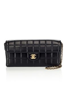 Vintage Chanel East/West single flap bag
