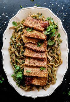 Vegan Sesame Tofu and Eggplant