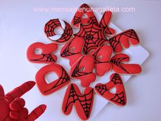 spiderman letter cookies, great adaptive use for our letter cookie cutters