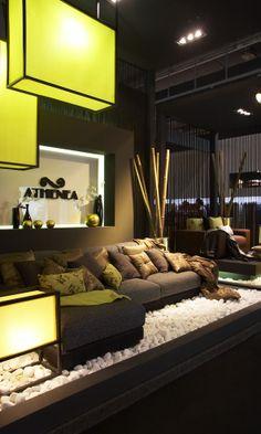 #heimtextil, #frankfut, #stand, #Wood, #zen design #fabrics #tejidos by Amalia Vañó -disseny d'interiors-