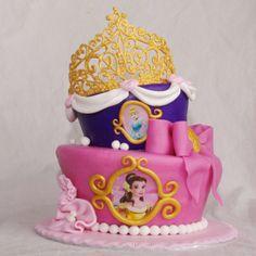 disney prinsessen topsy turvy taart