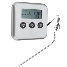 Electronic Digital Probe Tool Oven Grill Meat Thermometer Food Cooking Timer  Specifications: Material:PlasticMetal Size:8 x 8 x 1.6cm Cable Length:100cm Probe Length:18cm Usage:Be used to Oven / Microwave / BBQ / Smoker / Grilling / Roasting / Cooking / Frying / BakingAll kinds of Meat such as: Steaks / Beef / Pork / Lamb / Chicken / Turkey etc.All kinds of Foods such as: Cake/ Candy / Sugar / Chocalate / Water / Milk etc. Features: 1. A useful thermometer help to test the temperature of…