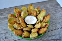 Fried Pickles: This 15 minute appetizer is sure to be a game day hit! www.tastefullyfrugal.org