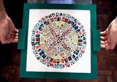 azulejo artesanal arte ceramica tiles handmade decor decoração design interiores casa home pattern mandala mosaico mosaic