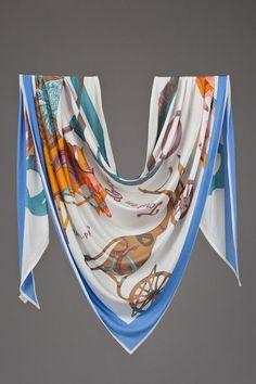 Hermes Tout en Carre Silk Jersey Scarf