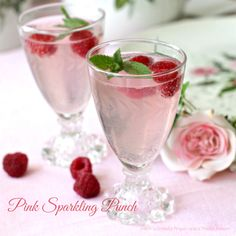 With a Grateful Prayer and a Thankful Heart: Pink Sparkling Punch- great for a little girl baby shower