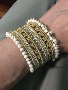 Macrame Bracelets, Friendship Bracelets, Bangles, Jewelry, Ideas, Bracelets, Jewlery, Bijoux, Schmuck