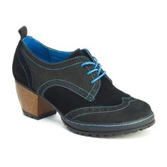 """The San Fran is a fun update to the classic oxford. The color pops and lightweight wooden heel add a feminine flair to this """"borrowed from the boys"""" style."""