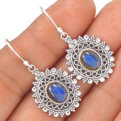 Labradorite 925 Sterling Silver Earrings EE1916 | eBay