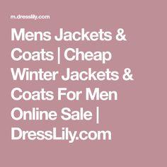 Mens Jackets & Coats | Cheap Winter Jackets & Coats For Men Online Sale | DressLily.com