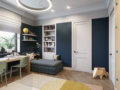 m on Behance Adobe Photoshop, Design Digital, Modern Kitchen Interiors, Apartment Design, Interiores Design, Baby Room, Kids Room, Entryway, Loft