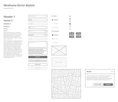 Wireframe Kit for Sketch