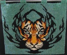 Beadiful Tiger Tat by Beadbrickie AKA Mareta Pascoe