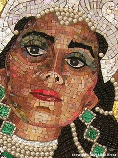 This is a mosaic of Queen Esther. She was a Jewish queen of the Persian king Xerxes I during the time of the Achaemenid empire. Her story is the basis for the celebration of Purim in Jewish tradition. God used her to liberate His people from  the destruction Haman. Queen Esther - Persian Empire - circa 450 BC.
