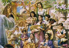 Bendicion Animales, Óleo sobre lienzo, Jesus Helguera