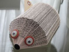 Sir Hedgehog paper holder by evamu on Etsy-can I DIY this with a book?