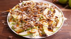 Apple Nachos | Just substitute Snickers for the Heath bar and this would be the perfect PMS snack!