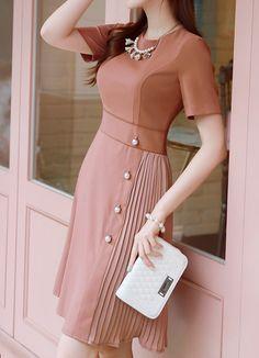 Korean Women`s Fashion Shopping Mall, Styleonme. Stylish Dresses, Women's Fashion Dresses, Casual Dresses, Pretty Dresses, Beautiful Dresses, Awesome Dresses, Mode Abaya, Classy Dress, Leather Dresses