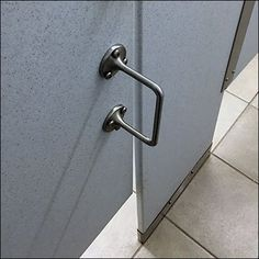 A truly helpful upgrade, this Wheelchair Height Restroom Stall Handle positions a grab point at an appropriate level for handicapped use. King Of Prussia Mall, Speed Bump, Door Handles, Positivity, Modern, Door Knobs, Trendy Tree, Door Pulls, Optimism