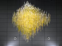 Florentinum - Lasvit in 2020 Entry Chandelier, Entry Lighting, Interior Lighting, Chandelier Lighting, Lighting Ideas, Large Lamps, Large Chandeliers, Glass Installation, Art Installations