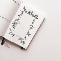 Bullet journal drawing idea, flower drawings, floral drawings, flower bordee. | @mohe1l