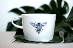 kubek porcelanowy 200ml HONEY BEE - dixie_lion - Kubki i filiżanki