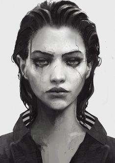 ArtStation Dentures, Rashed AlAkroka is part of Cyberpunk art - Character Portraits, Character Art, Character Concept, Character Illustration, Illustration Art, Cyberpunk Kunst, Arte Obscura, Inspiration Tattoos, Portrait Art