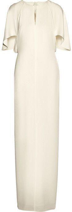 3.1 Phillip Lim Chiffon-paneled crepe maxi dress