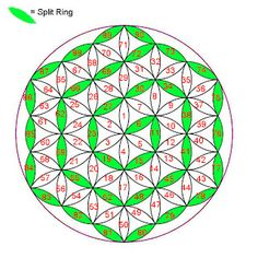 Entre lanzaderas: April 2013 - flower of life tatting pattern