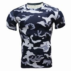 圧縮シャツ迷彩クロスフィットシャツフィットネス男性タイツボディービルtシャツワークアウトトップスベース層ブランドclothing男性