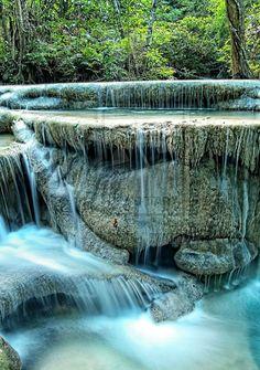 Erawan National Park, Erawan Falls, Thailand - Travel