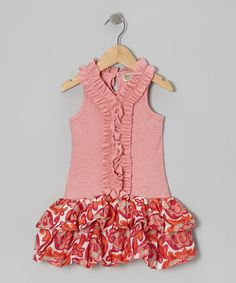 This Candy Pink Ruffle Bubble Dress - Infant, Toddler & Girls is perfect! #zulilyfinds