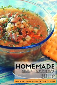 Homemade Beef Barley Soup - loaded with barley, beef and veggies this hearty recipe is a great addition to any weekly meal plan.