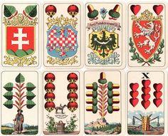 Palos de barajas de cartas de Javier Neila: Palos de la Baraja bávara