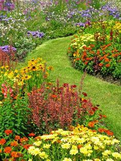 flower-garden3....gorgeous garden path curving thru a gorgeous garden!!!