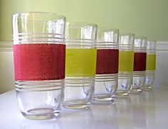 Vintage Glass Tumblers 1960s by winkinpossum on Etsy, $30.00