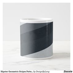 Hipster Geometric Stripes Pattern Giant Coffee Mug