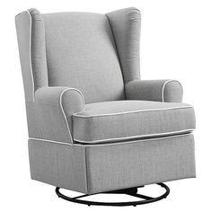 Eddie Bauer® Upholstered Wingback Swivel Glider - Gray : Target