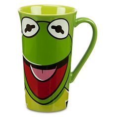 """Kermit says, """"It's easier being green once you've had your morning coffee."""" KERMIT THE FROG COFFEE MUG #Disney #Muppets"""